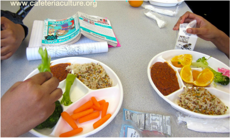 Cafeteria Culture, new school food plate pilot