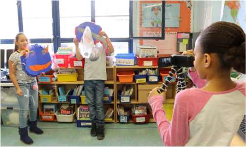 PS 15 K Marine litter skits with masks
